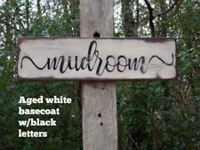 Mudroom Primitive Wood Sign, Distressed Mud Room Sign, Rustic Mudroom Signs