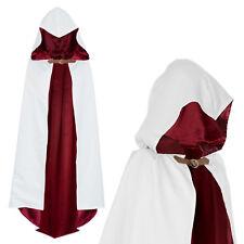 Umhang mit Kapuze Krieger Assassins Creed Kostüm Weiß Rot Erwachsene und Kinder