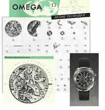 Planche technique technische Chronostop Omega 860 - 861 - 910 - 930 12 pages