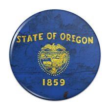 Rustic Oregon State Flag Distressed USA Pinback Button Pin Badge