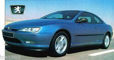 1997/1998 PEUGEOT 406 COUPE SPEC SHEET/Brochure/Catalog