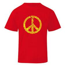 Art T-shirt, Maglietta Peace, Bambino Child Boy, Rosso