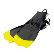 Hollis F-1  Bat Fin OH Scuba Diving Tech Fins w/Spring Strap Black w/Yellow Tips
