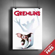 GREMLINS Poster A3 / A4 Classic Fantastic Horror Movie Art Print Home Decoration