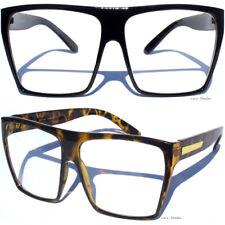 BIG OVERSIZE Retro Clear Lens Eye Glasses Women's Ladies Large Aviator Design