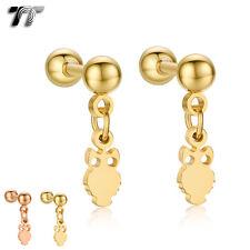 TT Surgical Steel Owl Dangle Ear Cartilage Tragus Earrings (BE173) NEW