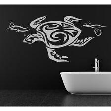 Tribal Sea Turtle Print Under the Sea Wall Sticker Bathroom Home Decor Art Decal