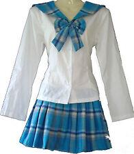 Sailor-Moon Schulmädchen-Uniform Japan/China/Cosplay Kostüm Türkis Gr. S-36/38