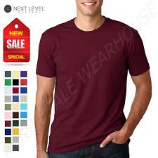 NEW Next Level 100% Cotton Men's Premium Fitted Crew Neck XS-XL T-Shirt R-3600