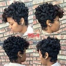 Short Natural Black Virgin Human Hair Wigs for Women Natural Full Wavy Wigs