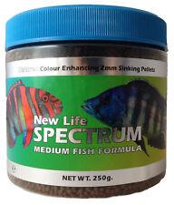 NEW LIFE SPECTRUM MED FISH FORMULA 2MM SINKING FOOD MEDIUM PELLET CICHLID MARINE