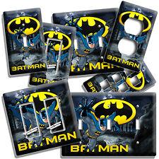 DOUBLE Light Switch Plate Cover BATMAN BAT SYMBOL DC COMICS