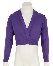 Girls Childrens Purple Ballet Dance Crossover Cardigan All Sizes By Katz