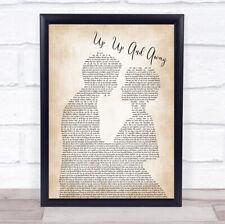 Up, Up And Away Man Lady Bride Groom Wedding Song Lyric Print
