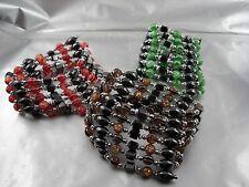 Hematite Blood stone Magnet Chains/Bracelets Extra Long Classy Bonbon Pearls