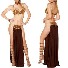 Women Princess Leia Slave Fancy Bra Top Dress Star Wars Bikini Halloween Costume