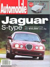 Automobile Dec 1998 - Jaguar S type - Honda S2000 - Bentley Arnage  - Merc S500