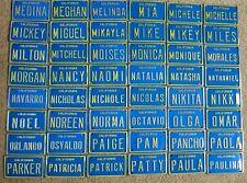 1960s California Mini Bike Metal Pedal Car Name License Plate Sign Mickey Mike