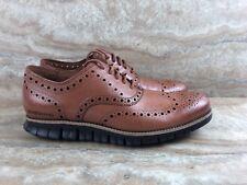 Cole Haan Zerogrand Wingtip Oxford Leather Dress Shoe British Tan