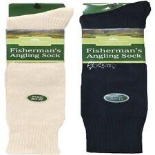 3 Pairs Mens Fisherman's Angling Wool Socks Shoe Size 6-11 Winter Motorbike Knee