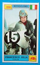 Figurina CAMPIONI DELLO SPORT 1969/70-n.258-F.VILLA (ITA)-MOTOCICLISMO-rec