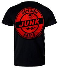 Men's t-shirt genuine junk parts black cotton hot rod drag race motorcycle biker