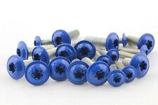 Linsenkopf Flansch TORX Edelstahl A2 blau M4 M5 M6 ISO 7380-2 Schrauben