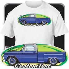 Custom Art T-Shirt for 64-66 GMC Chevy C-10 20 30 K Stepside Apache Pickup Truck