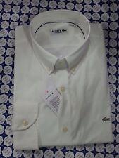 Camicia Lacoste Uomo -- Bianco Regular Fit Maniche Lunghe -- CH8766  161