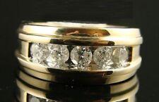 Ct Diamond Pave Designer Band Pinky Ring Men's 14K Yellow Gold Finish Round 2.10