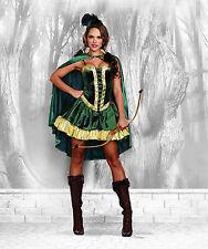 Sexy Dreamgirl Adult Women's Robin Hood Heroine Costume w Cape
