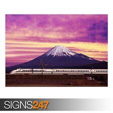 SHINKANSEN BULLET TRAIN AND (AB026) TRAIN POSTER - Poster Print Art A0 A1 A2 A3