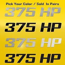 375HP Decal Graphic Emblem Fits Dodge Challenger R/T, Chevrolet Nova SS