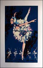 LeRoy Neiman Prima Ballerina Blue dancer plate signed SERIGRAPH PRINT Make Offer