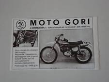 advertising Pubblicità 1974 MOTO GORI 125 GS RC