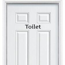 Toilet Entrance Sign Sticker for Bathroom Restroom Washroom WC Door Wall Decal