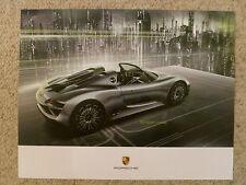 2013 Porsche 918 Spyder Concept Car Showroom Advertising Poster RARE!! L@@K