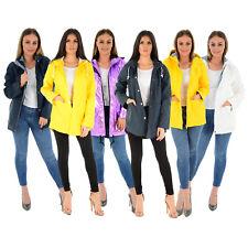 Señoras para mujer con capucha Impermeable Festival Impermeable Abrigo Parka Chaqueta de goma