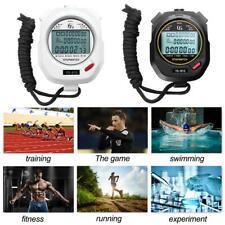 Handheld Digital Stopwatch Chronograph Sports Training Running Timer Stop Watch