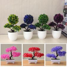 Simulation Fake Decoration Flowers Plastic Pot Plants Tree Accessories DIY