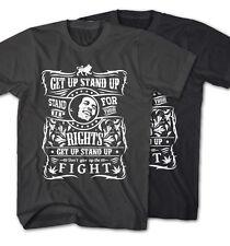 * T-shirt BOB MARLEY GET UP reggae musica Rastafari Stand Up nuovo gs9415 *