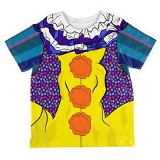 Halloween Creepy Clown Costume 1990s All Over Toddler T Shirt