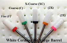 White Ceramic Drill Bit Fine, Coarse, Medium ,X-Coarse, 2X, 3X Large Barrel 3/32