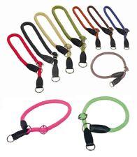 Zugstopphalsband Würger 4 Größen 11 Farben Nylon Würgehalsband Hundehalsband