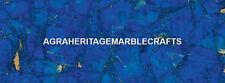 Large Marble Top Lapis Lazuli Inlay Stone Dining Table Hallway Patio Decor H5584