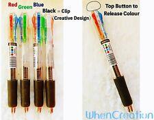 Multi colour BallPoint Pen 4 In 1 Retractable Ballpoint Pen Oil Base Pen Premium
