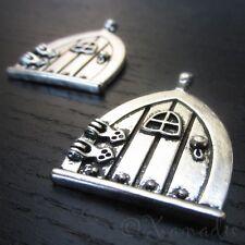 Fairy Door Pendants - Wholesale Hobbit Door Charms C0517 - 2, 5 Or 10PCs