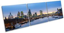 London City Famous Landmarks Picture CANVAS WALL ART Triple Print
