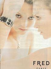 PUBLICITE ADVERTISING  2004    FRED  montre par KATE MOSS