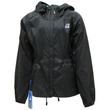 0137S giubbotto bimbo K-WAY antivento nero giacca jacket kid